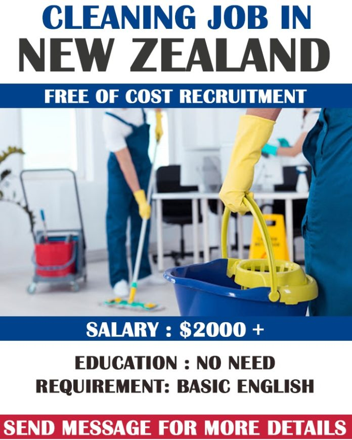 Cleaning Job in New Zealand