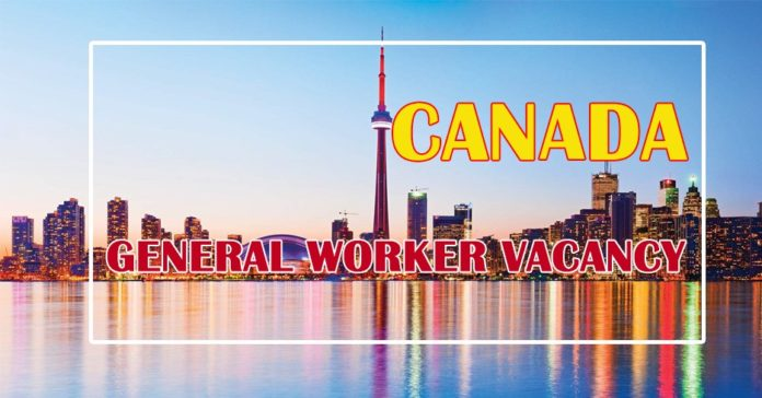 General Worker Vacancy in Canada
