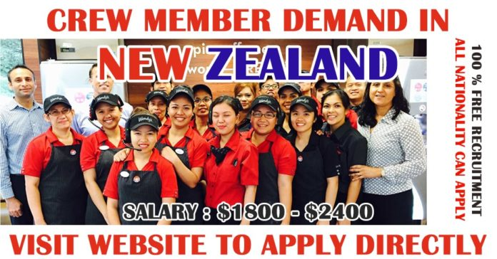 Crew Members Demand in New Zealand