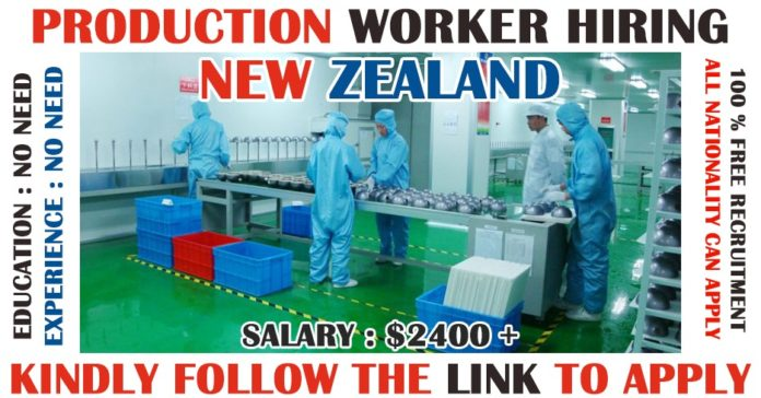 Production Workers Hiring in New Zealand